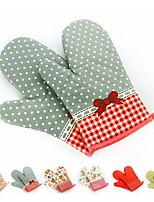 2 Pças. Pot Holder & Luva de Forno For Para utensílios de cozinha / para Bread / para bolo / para biscoito / para Pizza Tecido