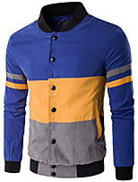 Men's Plus Size / Sports / Holiday Simple / Active / Punk & Gothic JacketsSolid / Color Block /