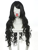 Inuyasha - Naraku / Aleksil / Yarita cosplay wig high temperature silk curls black