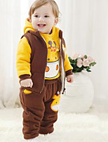 Boy's Casual/Daily Print Clothing SetCotton Winter Yellow