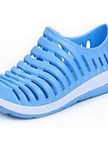 Damen-Sandalen-Outddor-PU-Flacher Absatz CreepersSchwarz Blau Rosa