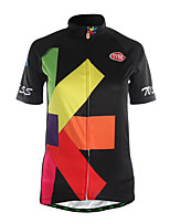Sports Cycling Jersey Women's Short Sleeve Breathable / Quick Dry / Front Zipper /Soft / Comfortable Bike Jersey