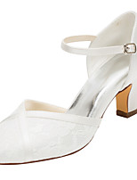 Women's Heels Spring / Fall Others Stretch Satin Wedding / Dress Chunky Heel Others Ivory Others