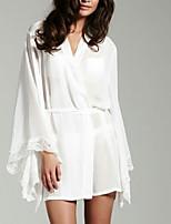 Ultra Sexy Vêtement de nuit Femme,Sexy Couleur Pleine-Mince Dentelle / Polyester Blanc Aux femmes