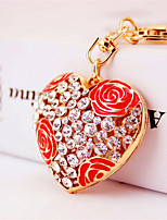 Creative Fashion Car Ornaments Rose Heart Key Chain
