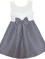 Girls Plaid Bow Party Pageant Casual Summer and Autumn Children Clothes Dresses