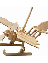 Пазлы Деревянные пазлы Строительные блоки DIY игрушки Вертолет 1 Дерево Со стразами