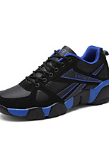 Men's Sneakers Spring / Fall Comfort PU Athletic Flat Heel Others / Lace-up Blue / Yellow / Black   and White Sneaker