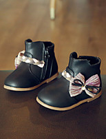 Girl's Boots Comfort PU Casual Black Pink Gray