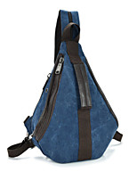 Unisex Canvas Casual / Outdoor Backpack Blue / Red / Black