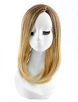 Sexy Silky Hightlight Black Brown Two Tone Color Fashion Straight Natural Wearing Wigs for European and American Womens