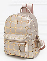 Women PU Casual Backpack Beige / Purple / Gold / Black