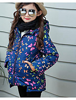 Girl's Casual/Daily Print Suit & BlazerPU / Polyester Winter Blue / Red