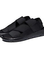Черный / Фиолетовый / Черный и белый-Мужской-На каждый день-Ткань-На плоской подошве-Удобная обувь-Сандалии