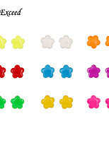 9 Pairs Newest Cute Lovely Colorful Star-Shaped Stud Earing Set For Women