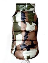 Собаки Плащи / Жилет Красный / Желтый / Зеленый / Синий Одежда для собак Зима камуфляж Мода / Сохраняет тепло Lovoyager