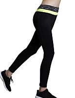 Pantalon de yoga Collants / Bas Séchage rapide / Isolé / Compression / Confortable Haut Haute élasticité Vêtements de sport Noir Femme