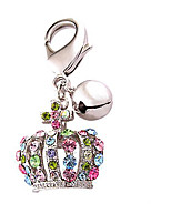 Dog Tag With Bell Tiaras & Crowns White Alloy