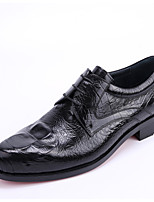 Men's Oxfords Comfort Leather Office & Career Casual Black Burgundy