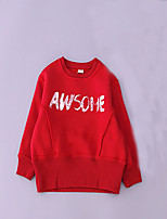Boy's Casual/Daily Solid Hoodie & SweatshirtCotton Spring / Fall Red