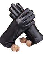 женские кожаные перчатки прикосновения (XL)