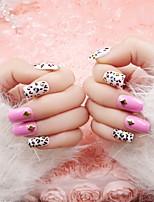 прибить кусок готовой продукции невеста поддельные ногти накладные ногти розовый леопардовый патч для ногтей 24 шт отделкой
