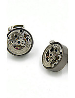 Cufflinks 2pcsSolid Gold / Gray Fashionable Cufflink Men's Jewelry