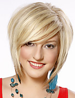 Short Wavy Hair Blonde Color Synthetic Wigs for Women