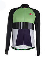 Sports Cycling Jersey Men's Long Sleeve Breathable / Thermal /Back Pocket / Ultra Light Fabric Bike Jersey