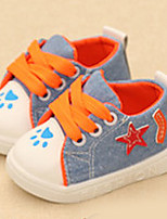 Unisex Sneakers Fall Comfort Canvas Casual Flat Heel Lace-up Blue Others