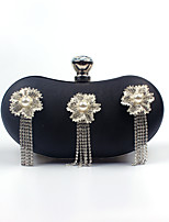 Women PU Poly urethane Formal Event Party Wedding Evening Bag Cashew Shape Leather Clutch Handbags Diamonds Flowers