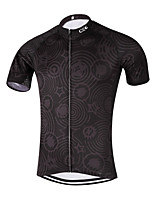 Esportivo Camisa para Ciclismo Homens Manga Curta MotoRespirável / Secagem Rápida / Design Anatômico / Tiras Refletoras / Bolso Traseiro
