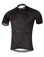 Deportes Maillot de Ciclismo Hombres Mangas cortas BicicletaTranspirable / Secado rápido / Diseño Anatómico / Bolsillo trasero / Reductor