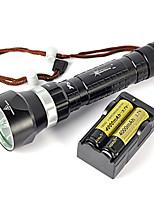 200m subaquática 8000lm 4xxm-l2 levou mergulho lanterna tocha conjunto completo de carregador de bateria