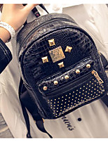 Women PU Casual Backpack Gold / Silver / Black