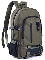 Men Canvas Casual Backpack Green