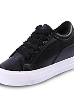 Women's Sneakers Spring Summer Fall Winter Other Leatherette Outdoor Casual Athletic Wedge Heel Lace-up Black White