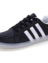 Unisex Sneakers Spring / Fall Comfort PU Casual Flat Heel  Black / White Sneaker