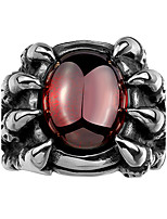 Ring AAA Cubic Zirconia Skull Halloween Wedding Party Daily Casual Sports Christmas Gifts Jewelry Steel Men Ring 1pc,8 9 10 11 Silver