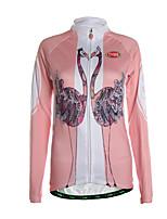 Sport Fahrradtrikot Damen Langärmelige FahhradAtmungsaktiv / warm halten / Reißverschluß vorne / Tasche auf der Rückseite /