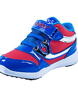 Men's Sneakers Spring Fall Comfort PU Casual Flat Heel Others Hook & Loop Blue Red Fuchsia