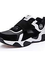 Unisex-Sneaker-Lässig-PU-Flacher Absatz-Komfort-Schwarz Rot Fuchsie
