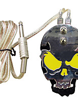Solong Tattoo Professional Skull Stainless Steel Tattoo foot switch/pedal for Power Supply  P219-3