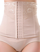 Women's Underbust Corset Nightwear Sexy Solid-Medium Nylon Beige / Black