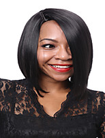 Short Straight Hair Black Color Synthetic Wigs for Women