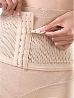 Women's Underbust Corset Nightwear Sexy Solid-Thin Nylon Beige