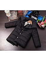 Girl's Casual/Daily Solid Down & Cotton PaddedNylon Winter / Spring / Fall Black / Green