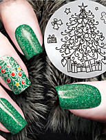 2016 Latest Version Fashion Christmas Tree Pattern Nail Art Stamping Image Template Plates