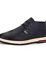 Men's Oxfords Spring / Fall Comfort PU Casual Flat Heel Black / Brown / Khaki Sneaker