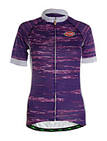 Sports Cycling Jersey Women's Short Sleeve Breathable / Quick Dry / Back Pocket / Ultra Light Fabric Bike Jersey